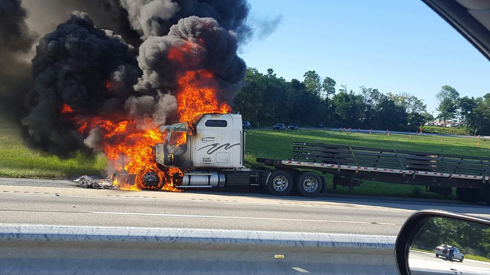 TRACTOR TRAILER FIRE ON INTERSTATE 81