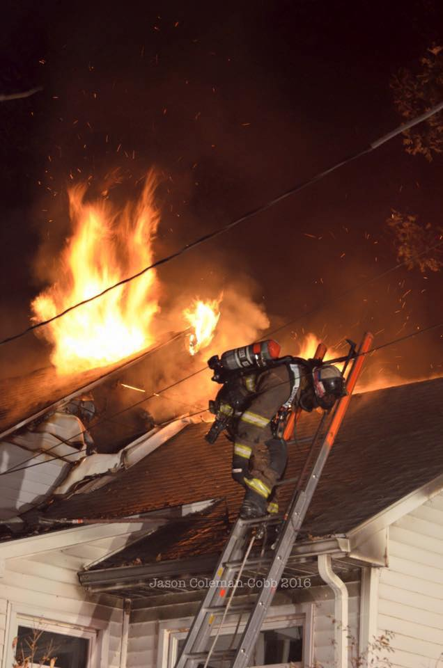TOWER AND RESCUE ENGINE RUN MIDDLE PAXTON HOUSE FIRE