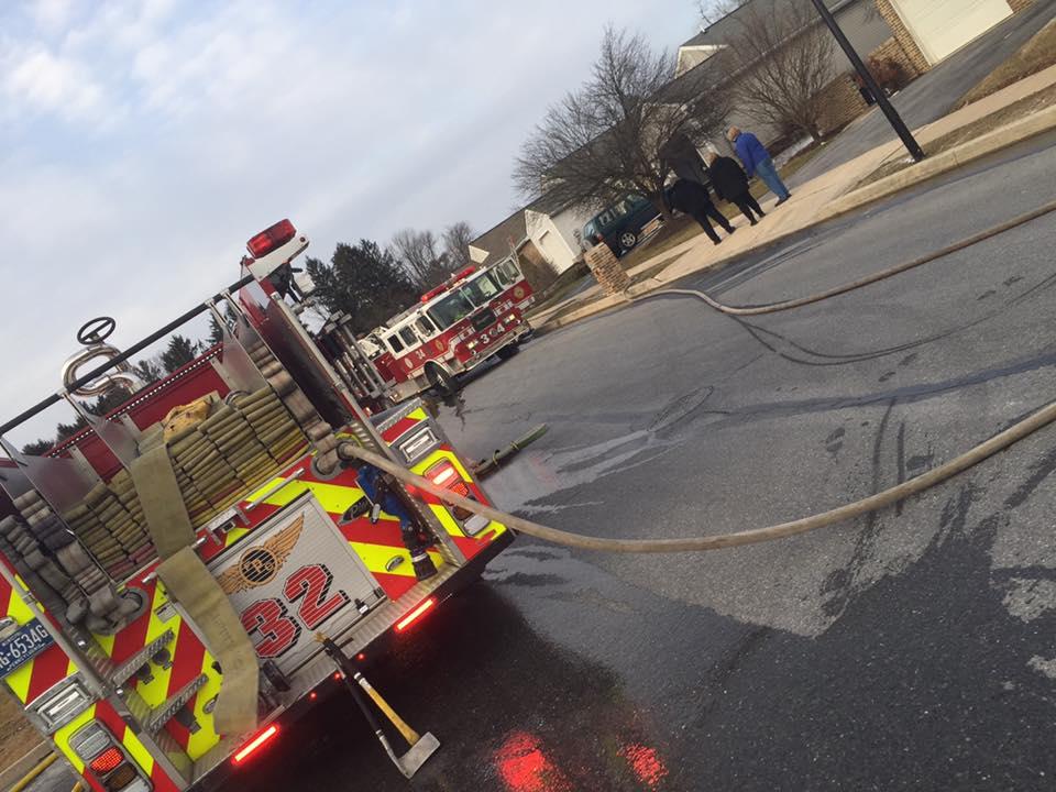 WAGON RUNS 34 HOUSE FIRE
